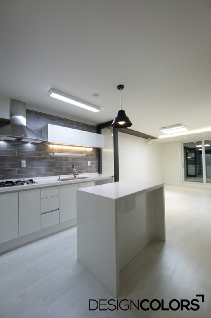 강서구 가양동 가양6단지 아파트 인테리어 22평 모던스타일 주방 by DESIGNCOLORS 모던