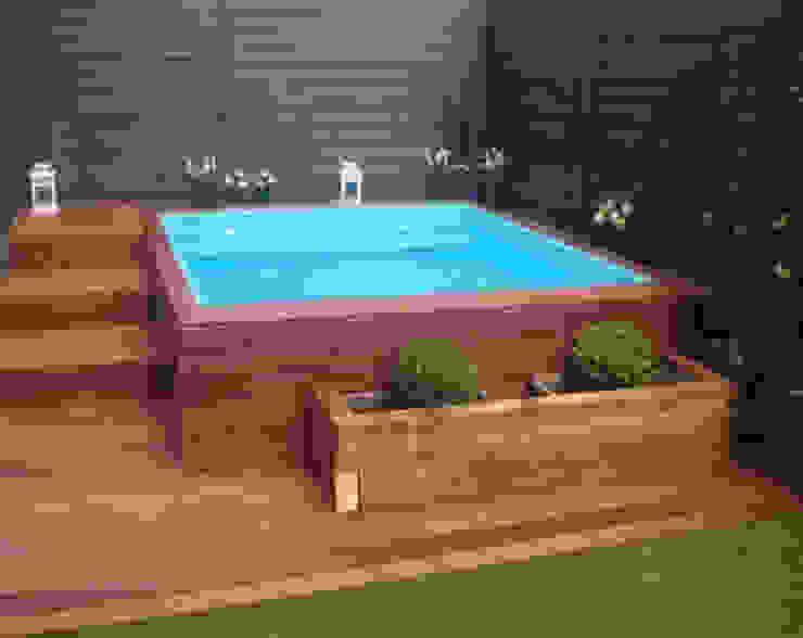 Suelos de jardín y piscinas RAM Carpinteria y Proyectos Jardines de estilo rural Madera