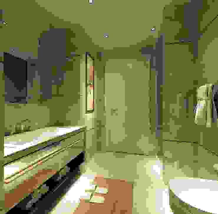 Bej rengi banyo Modern Banyo ANTE MİMARLIK Modern