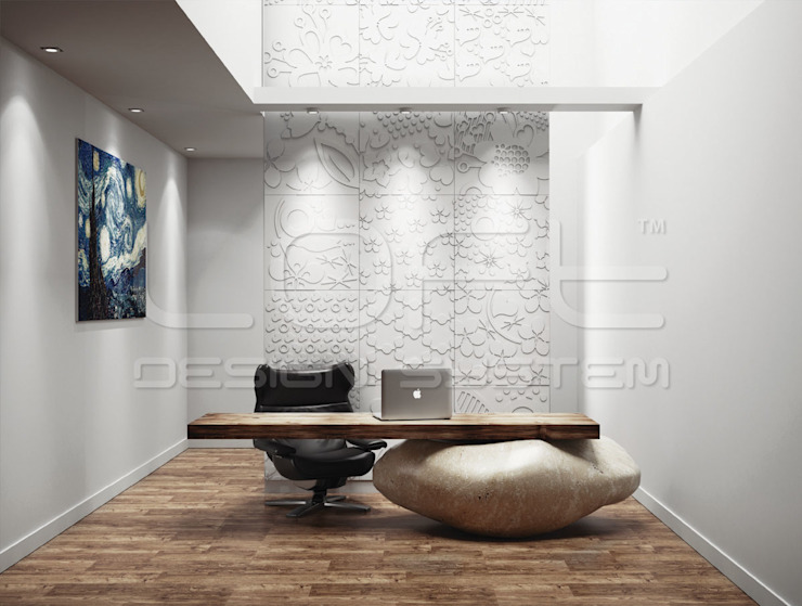 Loft Design System Deutschland - Wandpaneele aus Bayern Modern style study/office Concrete