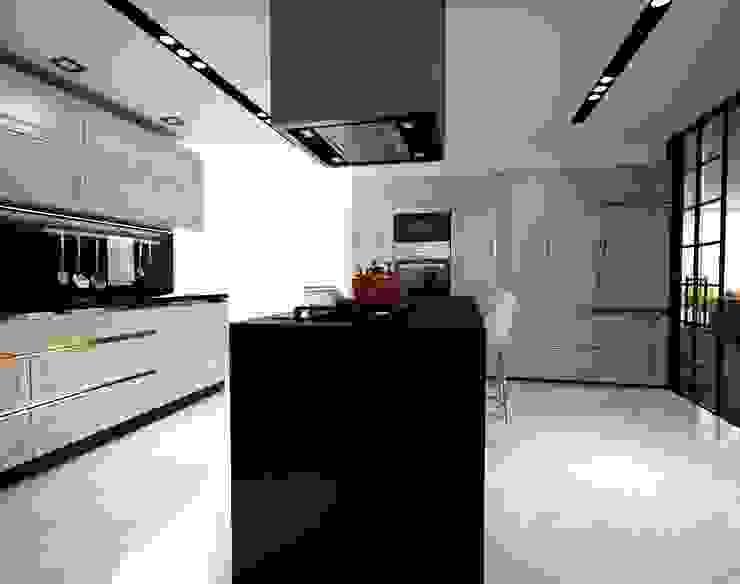 Siyah ve beyaz mutfak üniteleri Modern Mutfak ANTE MİMARLIK Modern