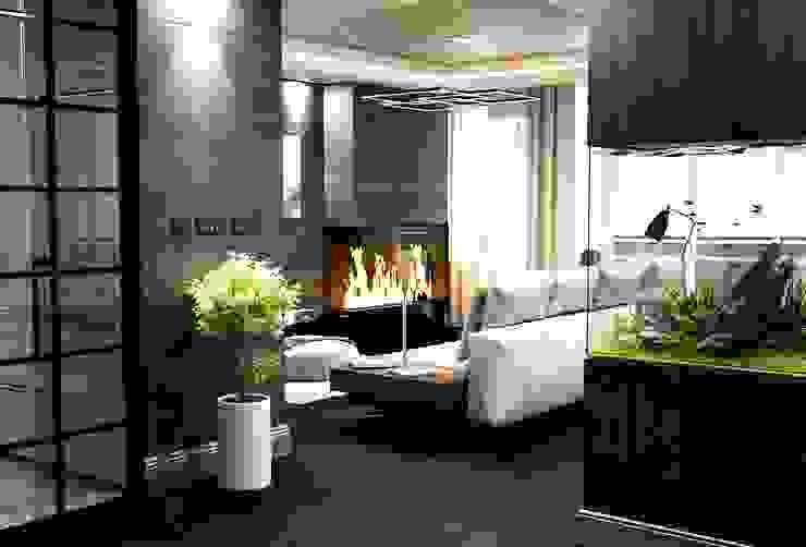 Salon ve şömine Modern Pencere & Kapılar ANTE MİMARLIK Modern
