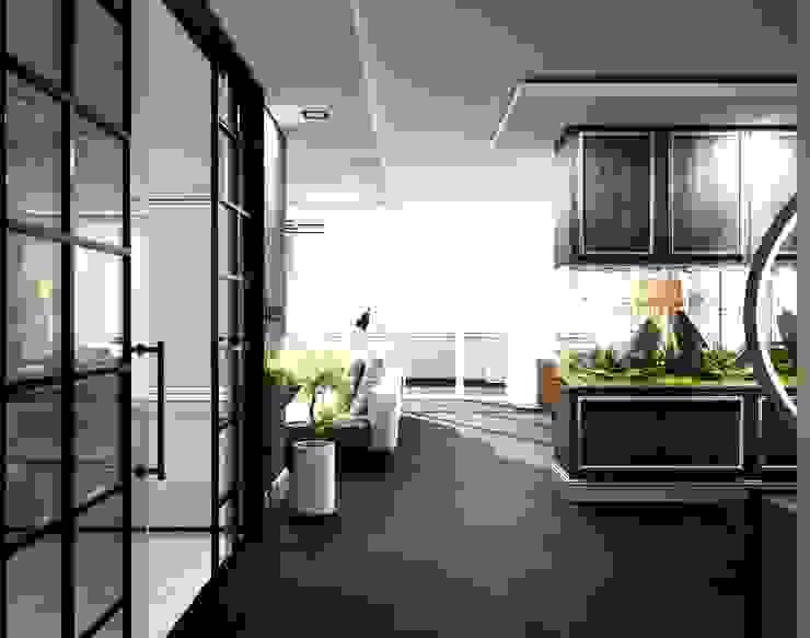 Cam kapılar Modern Oturma Odası ANTE MİMARLIK Modern