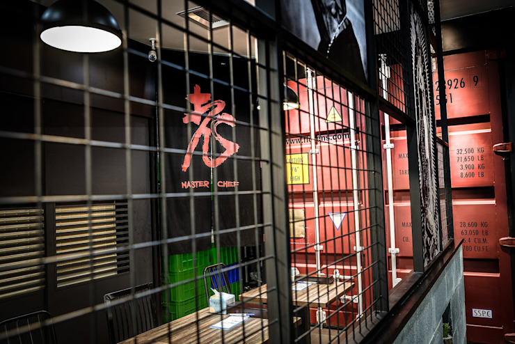 老師傅牛肉麵x重金搖滾HipHop 根據 業傑室內設計 工業風 鐵/鋼