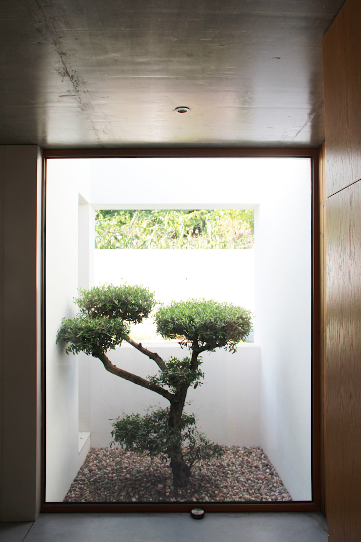 Qiarq . arquitectura+design Jardines con piedras Piedra Beige