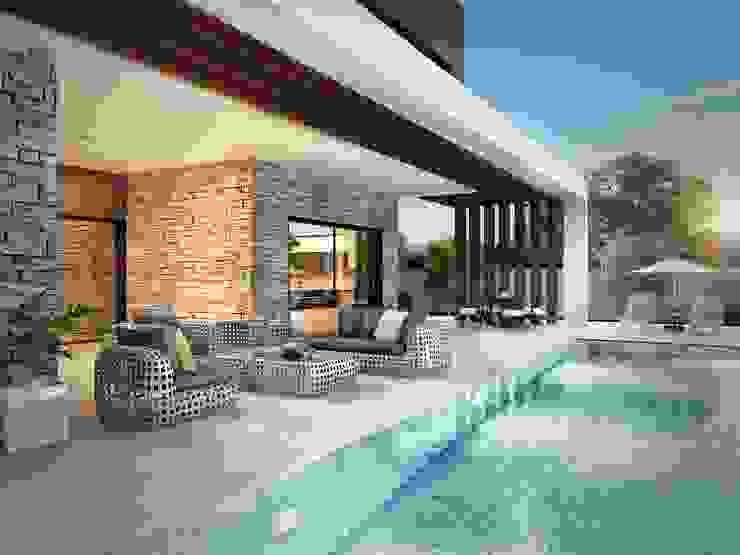 Veranda ve havuz ANTE MİMARLIK Modern