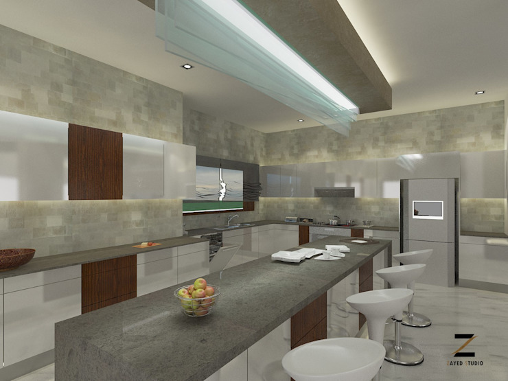 "Kitchens should be designed around what's truly important "" fun,food & life Modern Kitchen by ZAYED Studio Modern"