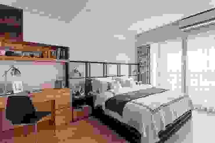 Phòng ngủ phong cách hiện đại bởi 鼎士達室內裝修企劃 Hiện đại Than củi Multicolored