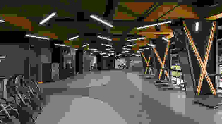 Gimnasios domésticos de estilo moderno de Dündar Design - Mimari Görselleştirme Moderno