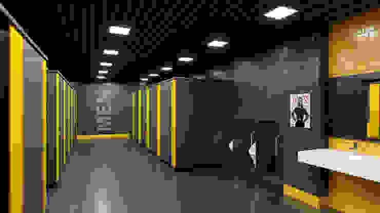 Nowoczesna siłownia od Dündar Design - Mimari Görselleştirme Nowoczesny