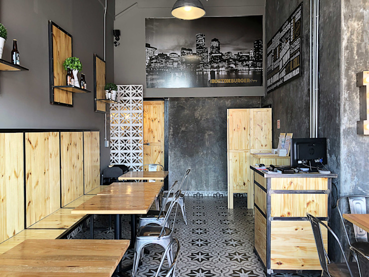Estudio Chipotle Industrial style gastronomy Metal Black
