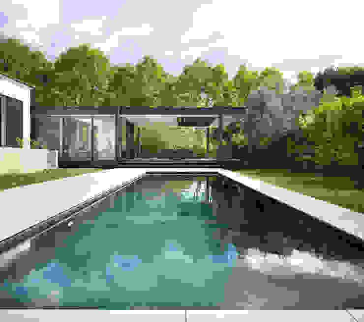CTN HOUSE Brengues Le Pavec architectes Piscines privées Grès Noir