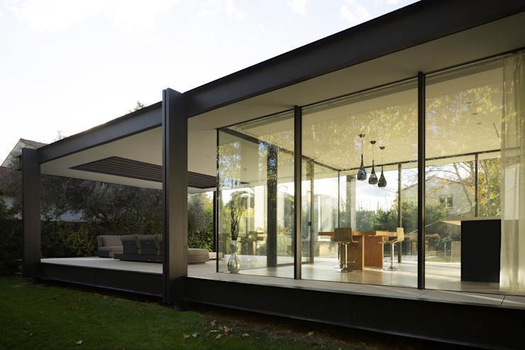 CTN HOUSE Brengues Le Pavec architectes Cuisine intégrée Métal Noir