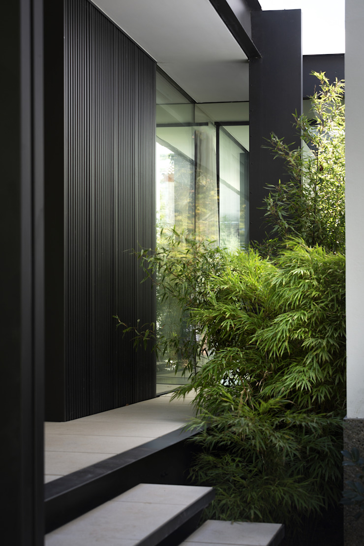 CTN HOUSE Brengues Le Pavec architectes Maison individuelle Métal Noir