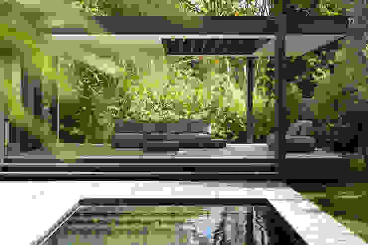 CTN HOUSE Brengues Le Pavec architectes Piscine minimaliste Grès Beige
