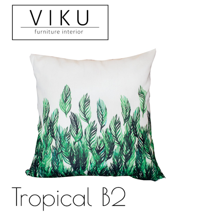 Tropical pillow B2 Oleh viku Skandinavia Tekstil Amber/Gold
