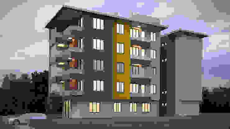 Apartman - 5 Kat Modern Evler Dündar Design - Mimari Görselleştirme Modern