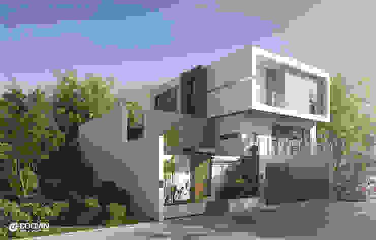 Proyecto Cumbres CODIAN CONSTRUCTORA Casas de estilo minimalista Blanco