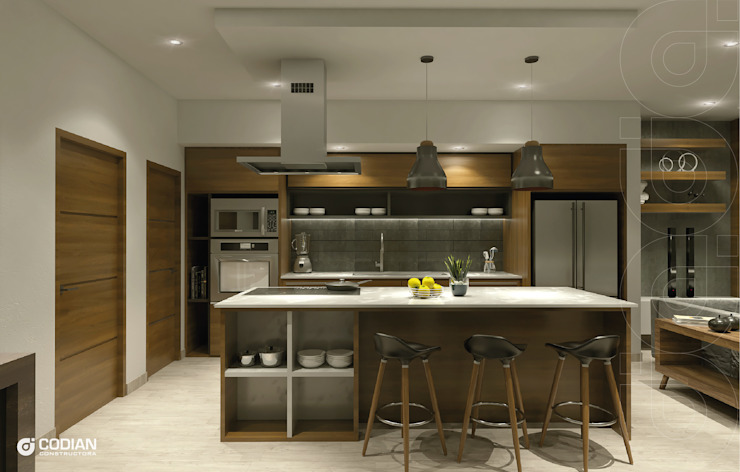 Proyecto Cumbres CODIAN CONSTRUCTORA Cocinas de estilo minimalista