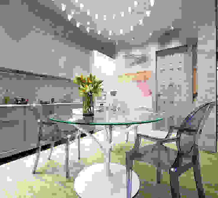 Однокомнатная квартира для молодой девушки: Кухни в . Автор – AnnaKimdesign , Лофт