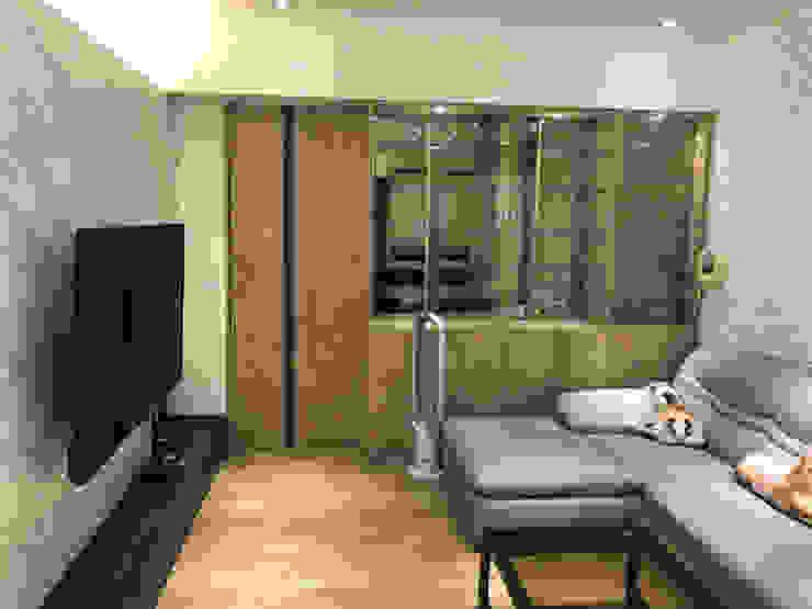 五股成泰路 開放式廚房 造型吧台設計 根據 捷士空間設計(省錢裝潢) 現代風