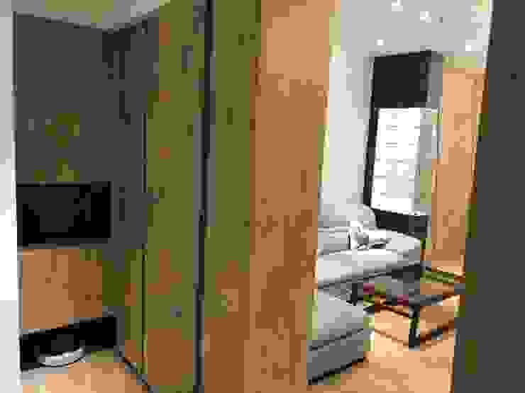 五股成泰路 開放式廚房 造型吧台設計 現代風玄關、走廊與階梯 根據 捷士空間設計(省錢裝潢) 現代風