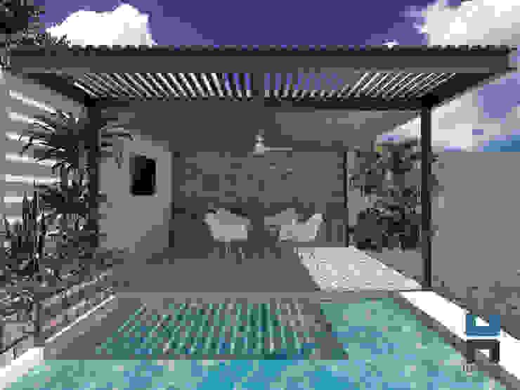 Diseño De Piscina Con Terraza Bar En Mérida Costo 195 000