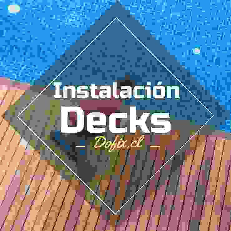 decks piscinas dofix de dofix Mediterráneo Madera Acabado en madera
