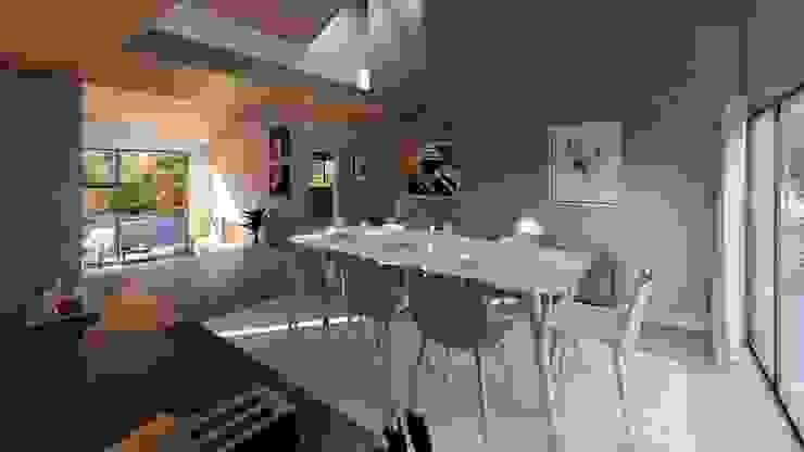 Vista comedor de Lagom Studio Moderno