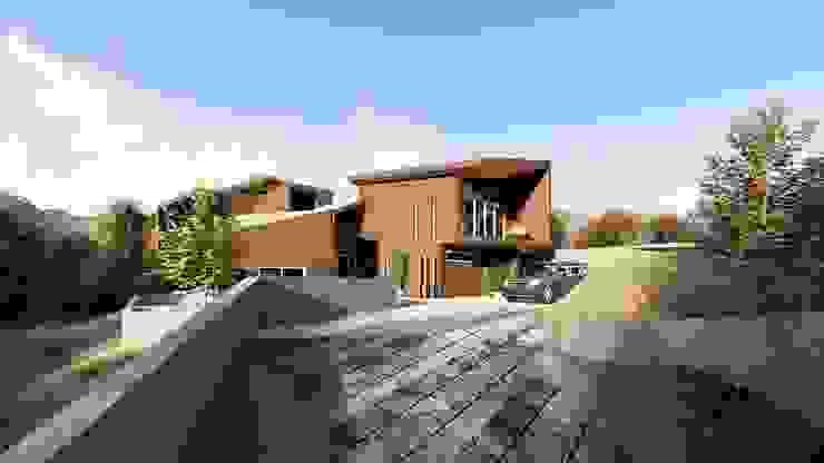 Vista acceso a la vivienda de Lagom Studio Moderno