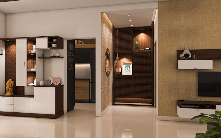 Foyer Modern Corridor, Hallway and Staircase by Modulart Modern