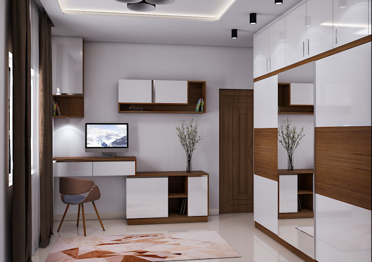 Study Area Modern Bedroom by Modulart Modern
