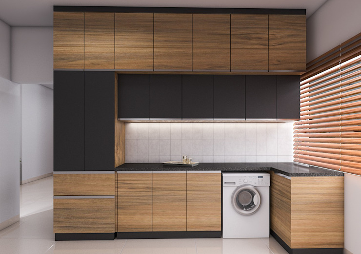 Prestige Ferns 2 BHK Modern Kitchen by Modulart Modern