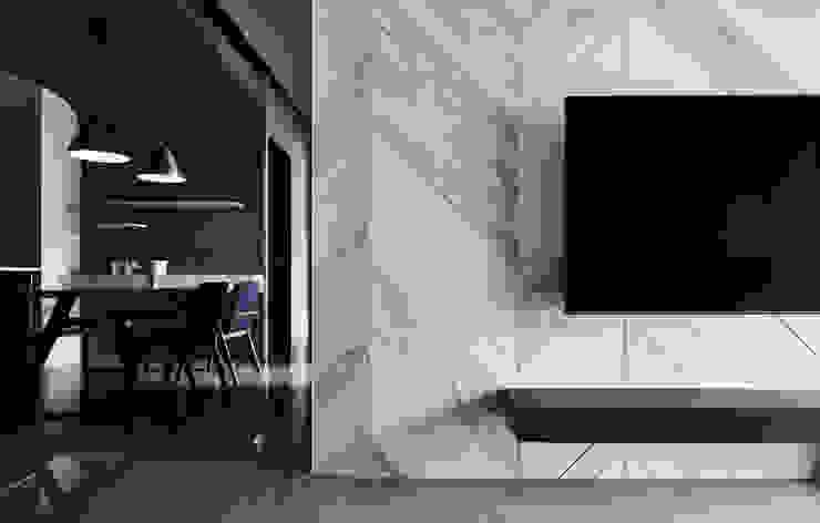 大城雲杉 思維空間設計 现代客厅設計點子、靈感 & 圖片