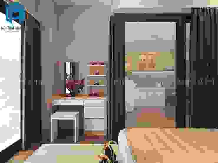 Giường ngủ cùng với bàn trang điểm Phòng ngủ phong cách hiện đại bởi Công ty TNHH Nội Thất Mạnh Hệ Hiện đại