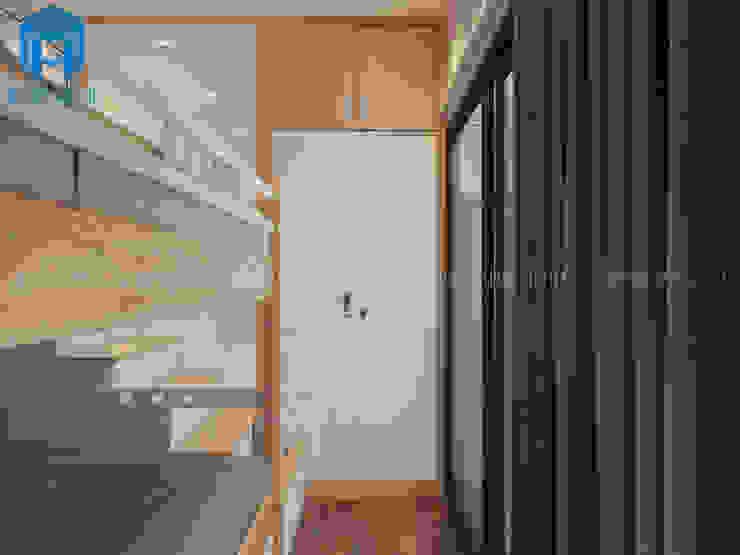 Phòng ngủ nhỏ được bố trí khá gọn gàng với các vật dụng nội thất khá hiện đại Phòng trẻ em phong cách hiện đại bởi Công ty TNHH Nội Thất Mạnh Hệ Hiện đại
