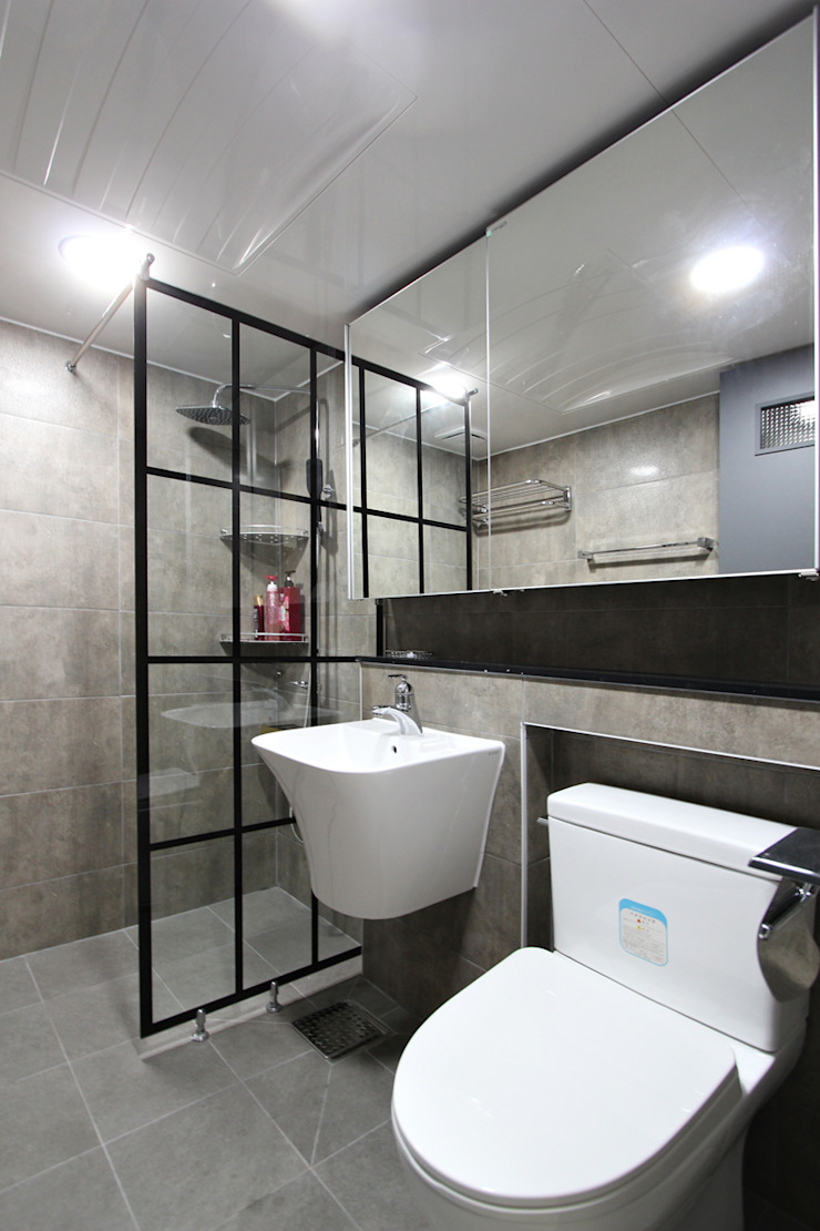 수원시 장안구 청솔주공 모던스타일 욕실 by 한 인테리어 디자인 모던