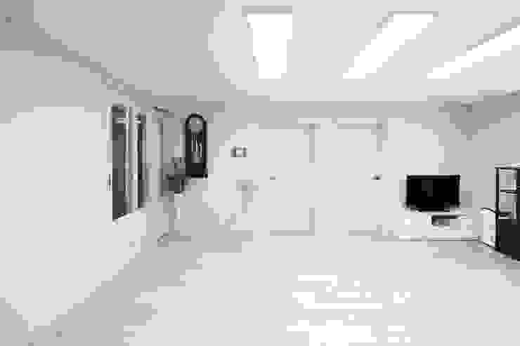 안양시 주택 인테리어 모던스타일 거실 by 한 인테리어 디자인 모던
