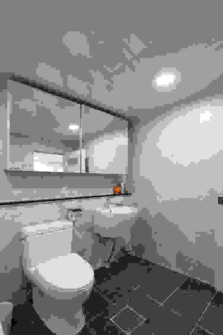 안양시 주택 인테리어 모던스타일 욕실 by 한 인테리어 디자인 모던