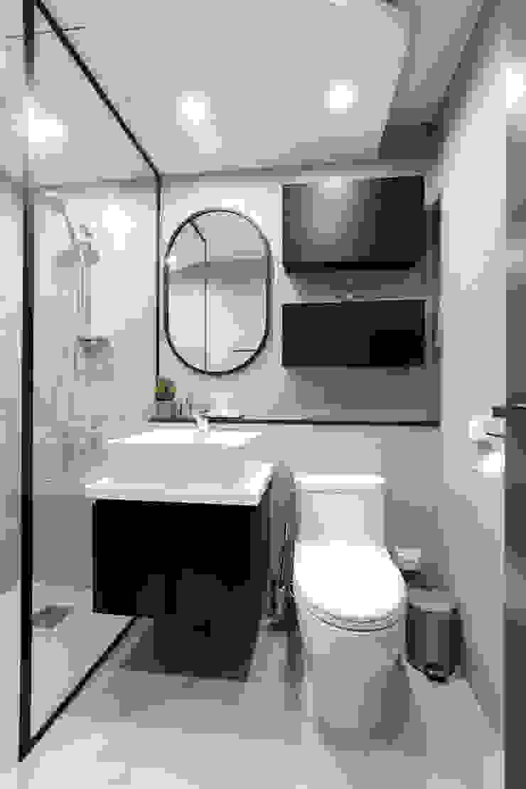 구로구 한솔아파트 38평 모던스타일 욕실 by 디자인담다 모던