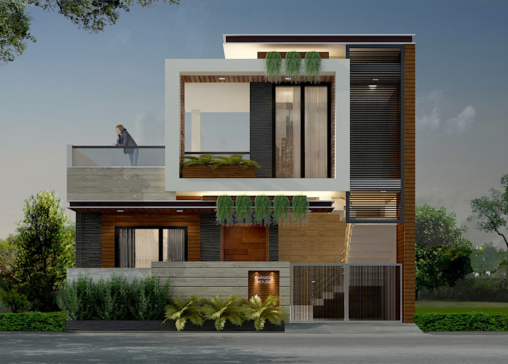 Exterior Design and Facade Ideas:  Houses by IDEARCH,Modern