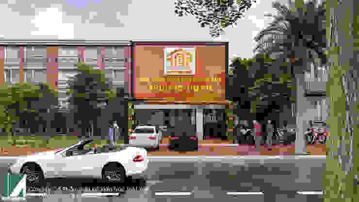 VĂN PHÒNG MẶT BẤT ĐỘNG SẢN MẶT TIỀN 7M – 2 TẦNG bởi Kiến trúc Việt Xanh