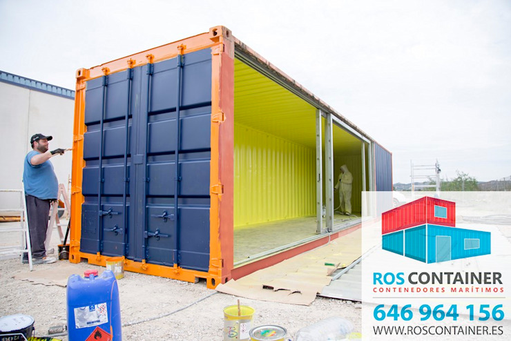 Industrial style commercial spaces by Ros container Industrial Metal