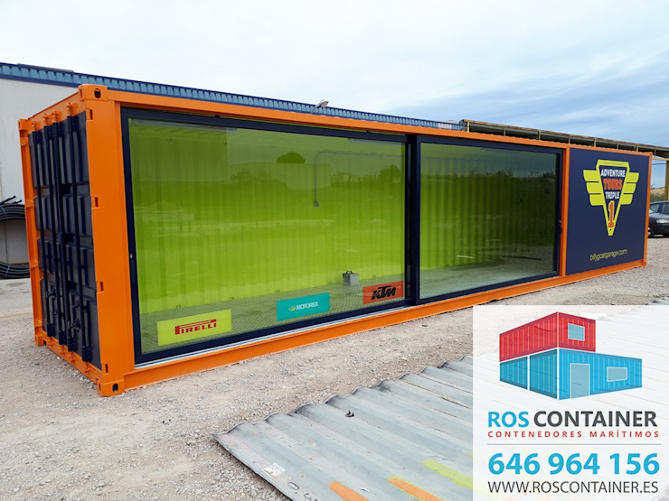 Industrial style commercial spaces by Ros container Industrial Iron/Steel