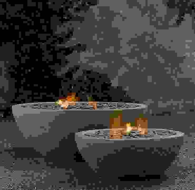 Fire Bowl a gas de Grupo Cinco Chimeneas Rústico Concreto