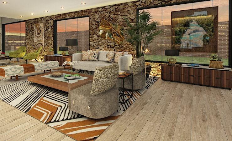 Modern living room by Luis Escobar Interiorismo Modern