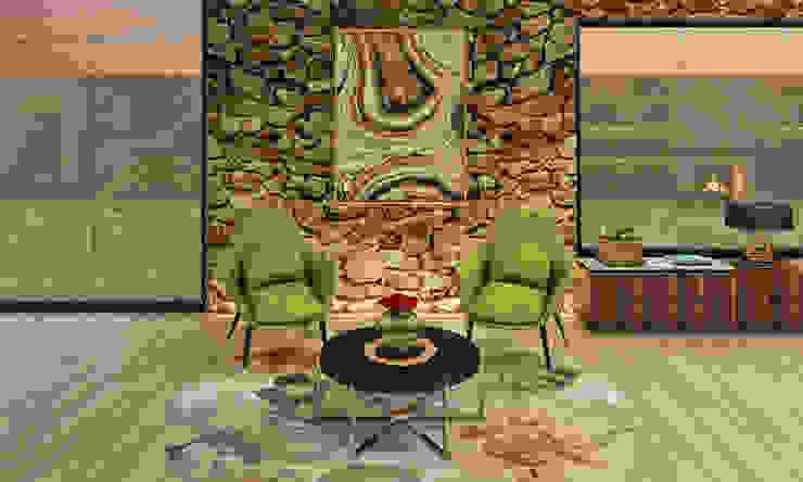 Casa de Campo Luis Escobar Interiorismo Salas modernas