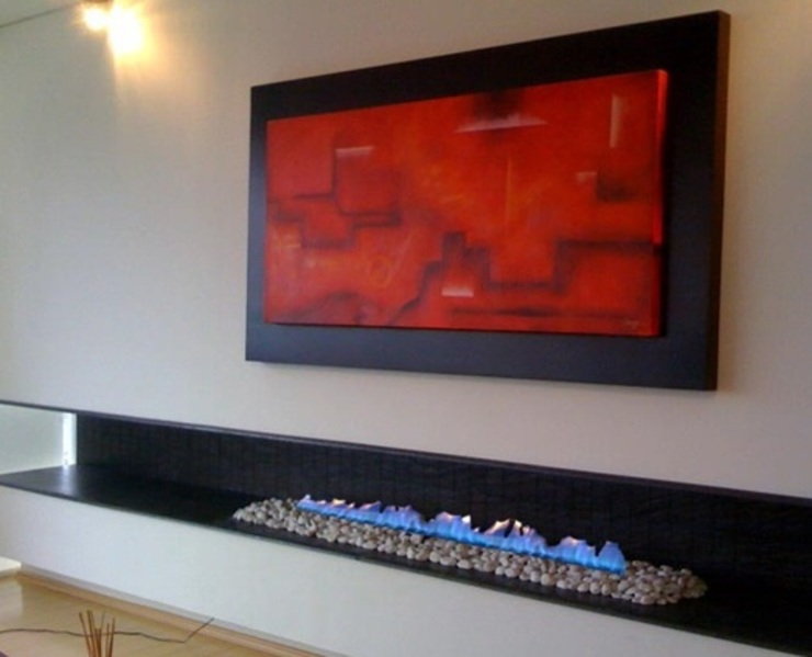 Grupo Cinco Chimeneas Living roomFireplaces & accessories Metal Black