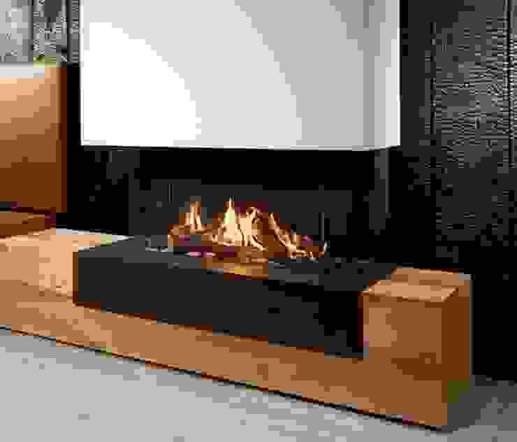 Grupo Cinco Chimeneas Living roomFireplaces & accessories Metal Brown