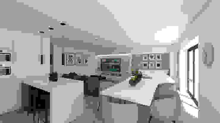Salon moderne par DR Arquitectos Moderne